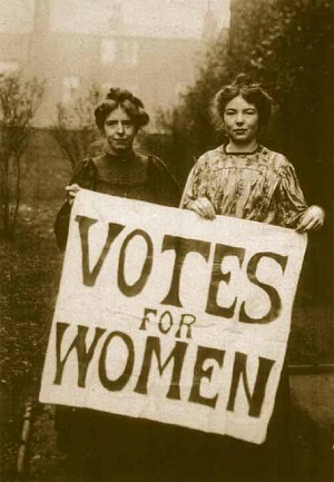 Annie Kenney and Christabel Pankhurst