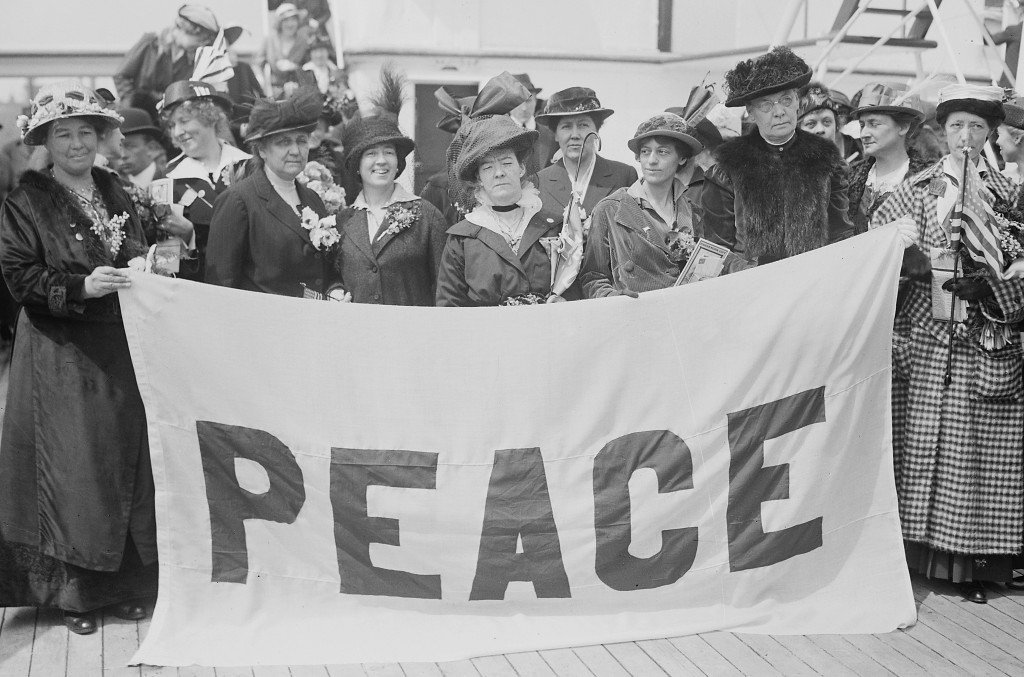 Female delegates to the 1915 Women's Peace Conference in The Hague,