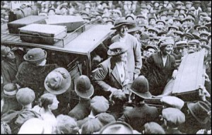 Susan Lawrence and the Poplar Rebel Councillors on their way to Holloway prison