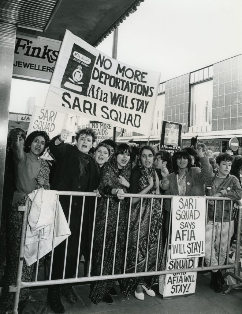 Mandatory Credit: Photo by Photofusion/Shutterstock (2286837a) Picket by Sari Squad of Tory Party conference, October 1983 Politics
